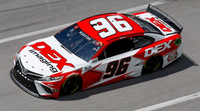 Strong Cup Series Debut for Burton at Talladega